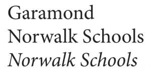 Norwalk Schools' font for branding image