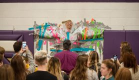 Supt. Magee gets duck taped to the wall for a good cause