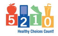 info graphic of healthy choices