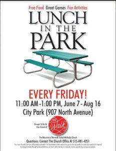 Lunch in the Park infographic