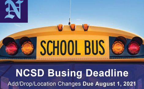 NCSD Transportation Reminder 2021