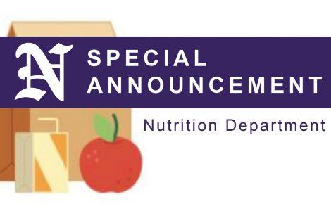 Nutrition Dept Announcement