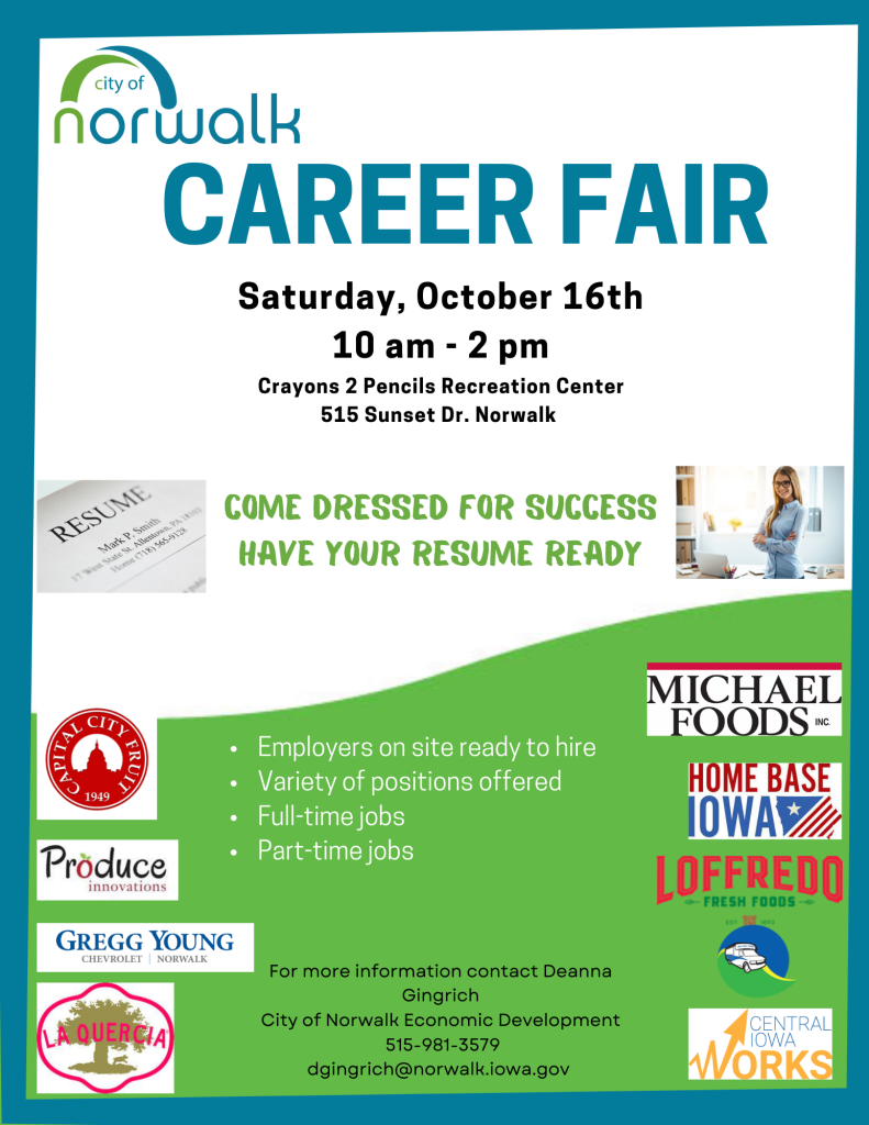 Norwalk Career Fair 2021 Flyer
